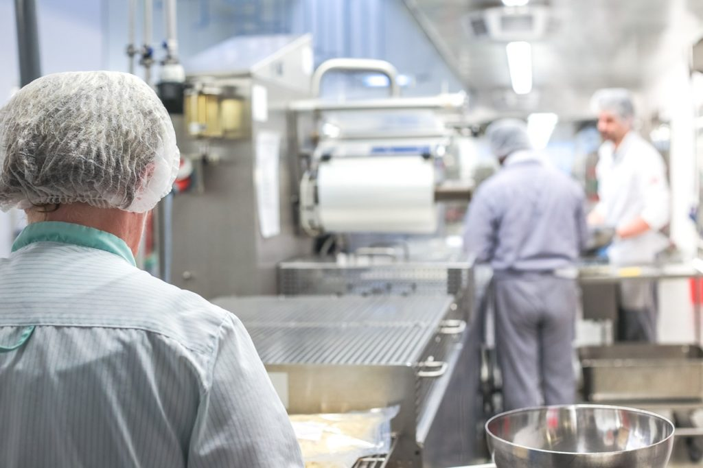 large kitchen, kitchen work, kitchen